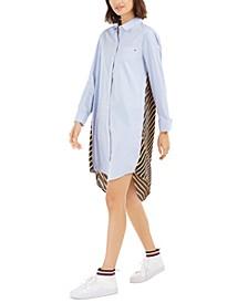 Striped & Solid Tunic Dress