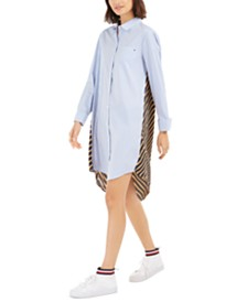 Tommy Hilfiger Striped & Solid Tunic Dress