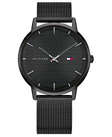 Men's Black-Tone Stainless Steel Mesh Bracelet Watch 40mm, Created for Macys