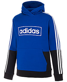 adidas Big Boys Colorblocked Hoodie Sweatshirt