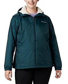 Plus Size Lined Rain Jacket