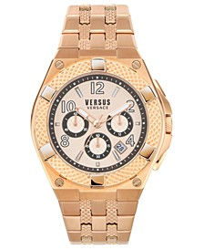 Men's Chronograph Estéve Rose Gold-Tone Stainless Steel Bracelet Watch 46mm