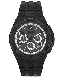 Men's Chronograph Estéve Black Stainless Steel Bracelet Watch 46mm