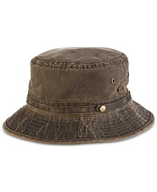 STETSON Men's Weathered Bucket Hat