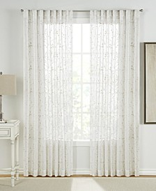 """Francis Embroidered 54"""" x 85"""" Sheer Curtain Set"""