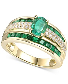 Emerald (1-7/8 ct. t.w.) & Diamond (1/4 ct. t.w.) Ring in 14k Gold