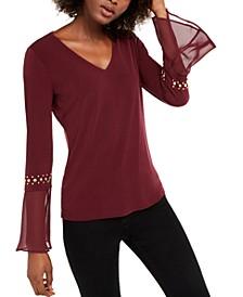 INC Studded-Sleeve Top, Created For Macy's