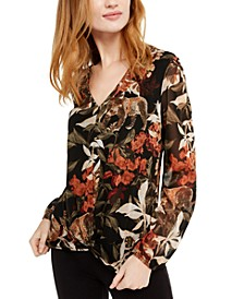 INC Printed Twisted Top, Created For Macy's