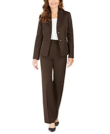 Pinstriped Pants Suit