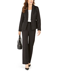 Tonal Striped One-Button Pantsuit