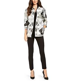 Metallic Jacquard Jacket & Slim-Leg Pants