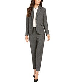 Houndstooth Jacket, Pleated Blouse, &  Bowie Pants