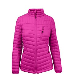 Spire By Galaxy Lightweight Puffer Bubble Jacket
