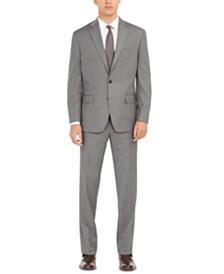 Club Room Men's Classic-Fit Micro Grid Stretch Suit