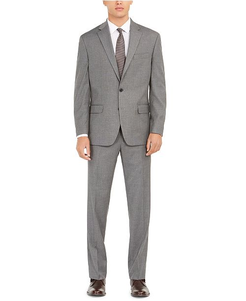 Club Room Men's Classic-Fit Micro Grid Stretch Suit