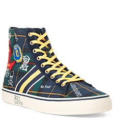 Polo Ralph Lauren Men's Solomon II Tartan High-Top Shoes