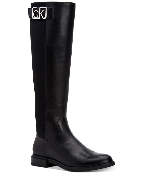 Calvin Klein Women's Ada Wide Calf Tall Boots