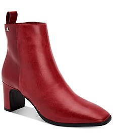 Calvin Klein Women's Deni Leather Booties
