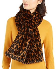 MK Logo Faux-Fur Pull-Through Scarf