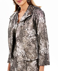 Metallic Jacquard Jacket