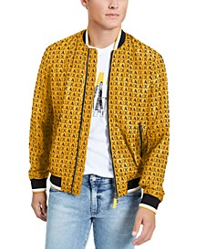 Men's Logo Print Baseball Jacket, Created for Macy's