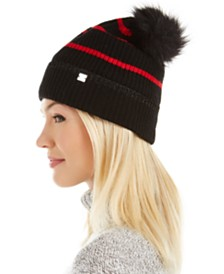 Lauren Ralph Lauren Metallic-Tipped Striped Beanie