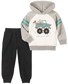 Baby Boys 2-Pc. Truck Hoodie & Jogger Pants Set