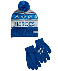 Little & Big Boys 2-Pc. Justice League Hat & Gloves Set