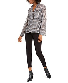 Briose Metallic Plaid Top