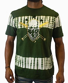Men's Olive Skull Graphic T-Shirt