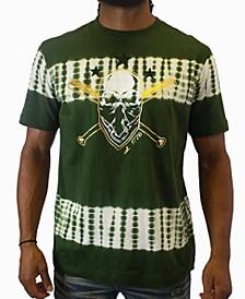 Men's Olive Skull Graphic T-Shirt