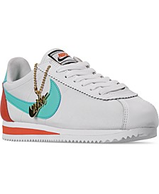 Women's Classic Cortez Premium Casual Sneakers from Finish Line