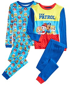 AME Little & Big Boys 4-Pc. Cotton PAW Patrol Pajama Set