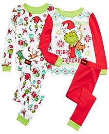 Toddler Boys 4-Pc. Cotton The Grinch Pajama Set