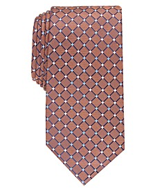 Men's Classic Grid Silk Tie, Created For Macy's