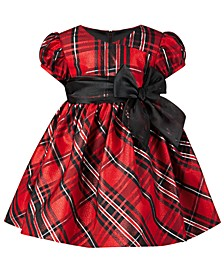 Baby Girls Metallic Plaid Dress