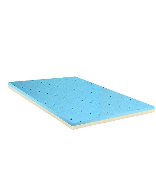 "Payton 2"" Gel Infused High Density Foam Mattress Topper, King"