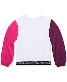 Calvin Klein Big Girls Colorblocked Logo Sweatshirt
