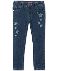 Little Girls Glitter-Star Skinny Jeans