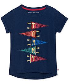 Tommy Hilfiger Big Girls Cotton Banner T-Shirt
