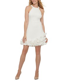 GUESS Ruffled Halter Dress