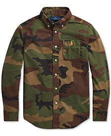 Polo Ralph Lauren Big Boys Camo Oxford Shirt