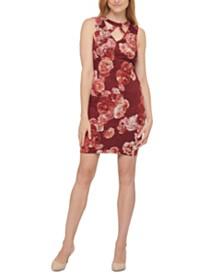 GUESS Printed Lace Cutout Dress