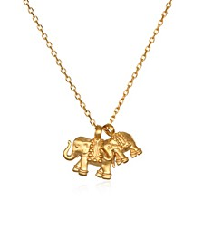 "Double Elephant Pendant 18"" Necklace"