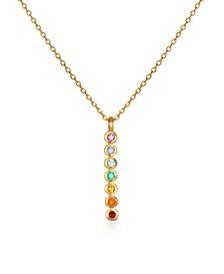 "Genuine Stone 7-Chakra Stick 18"" Necklace"