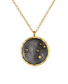 """Satya Jewelry Leo Zodiac Peridot Gold 18"""" Necklace"""