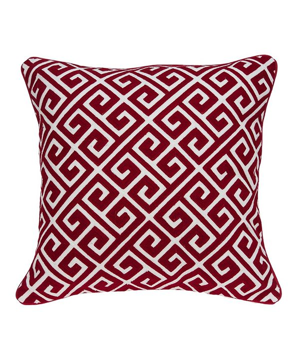 Parkland Collection Trix Transitional Red and White Pillow Cover