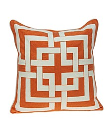 Simbel Transitional Multicolored Pillow Cover With Down Insert