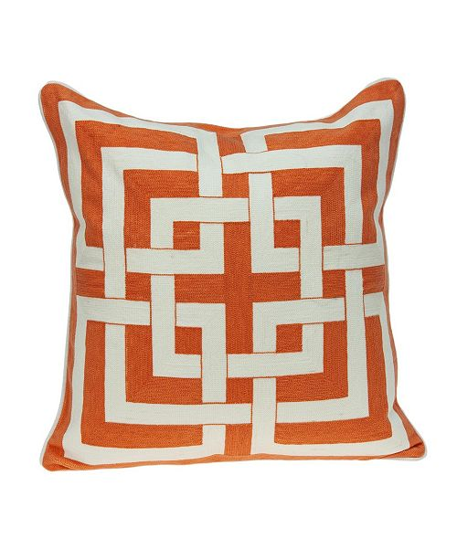 Parkland Collection Simbel Transitional Multicolored Pillow Cover With Down Insert