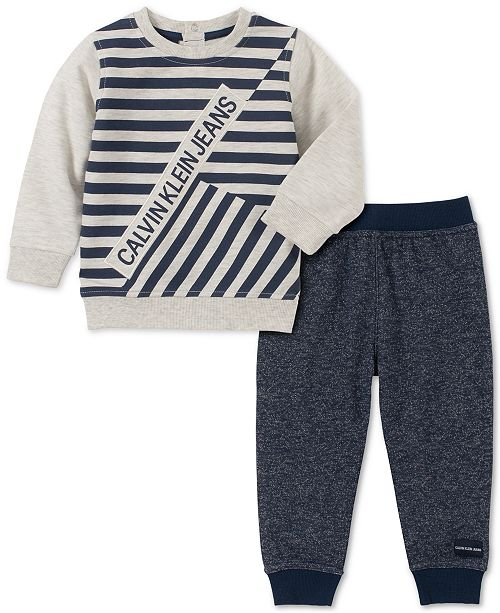 Calvin Klein Baby Boys 2-Pc. French Terry Sweatshirt & Jogger Pants Set